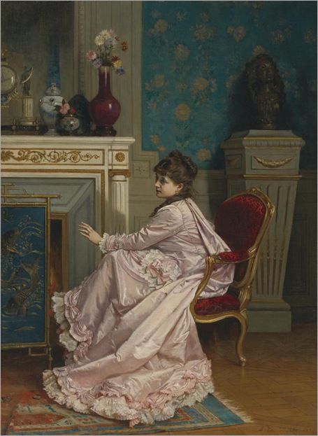 At the Corner of the Fire - 1878-Auguste Toulmouche