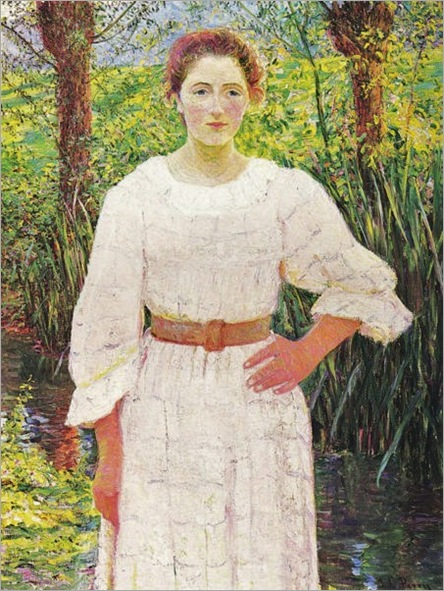 By the Brook, Giverny France - Lilla Cabot Perry-1909