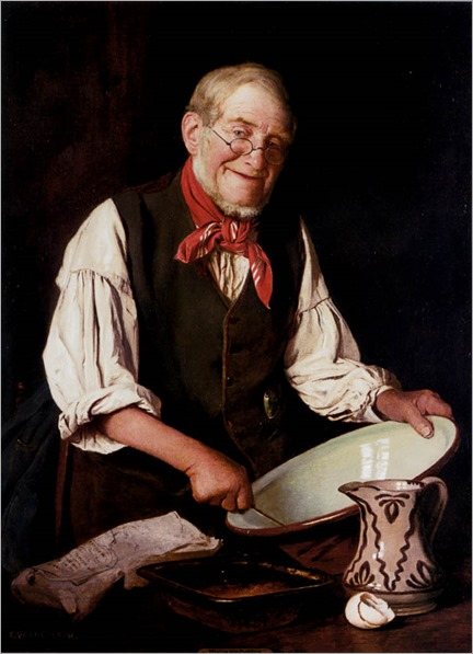 CharlesSpencelayh_mixing_the_pudding