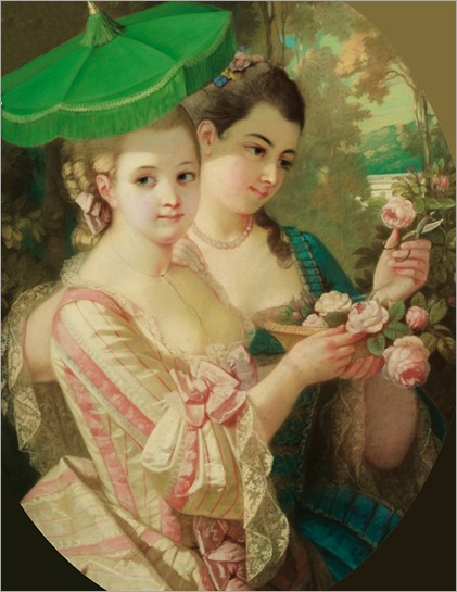 Constant-Joseph Brochart (1816 - 1889) - Young Ladies with a parasol