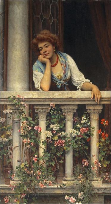 Eugen von Blaas (Eugene de Blaas, 1843-1931) - Lovelorn, 1911