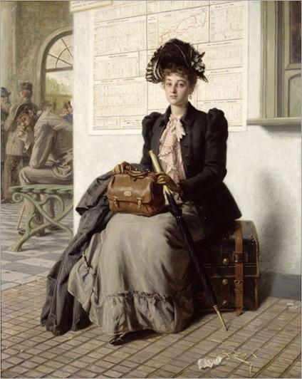Evert Jan Boks (dutch-belgian 1838-1914) Going into the world