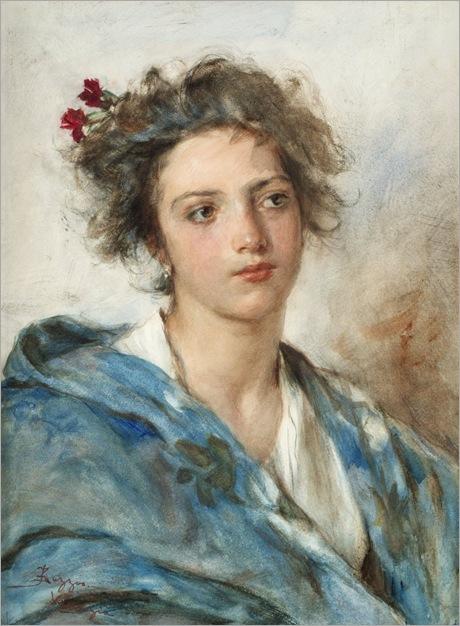 Flora - Alessandro Zezzos (italian painter)