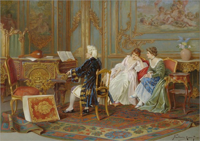 Frederico Ballesio -Gentleman playing a piano