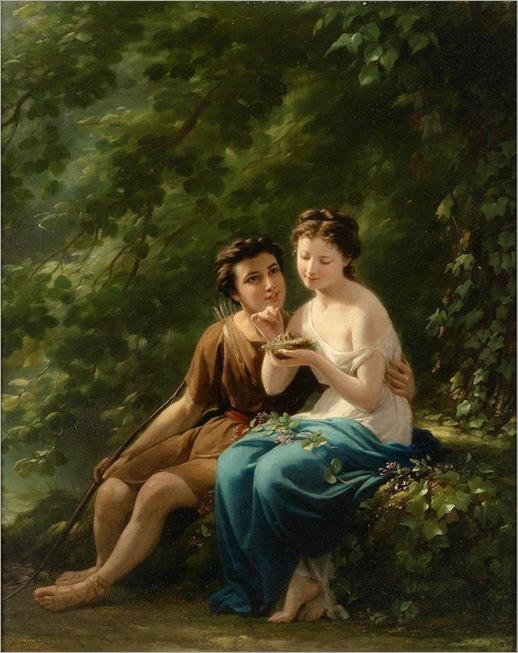 Fritz Zuber-Buhler (1822-1896) Woodland Idyll