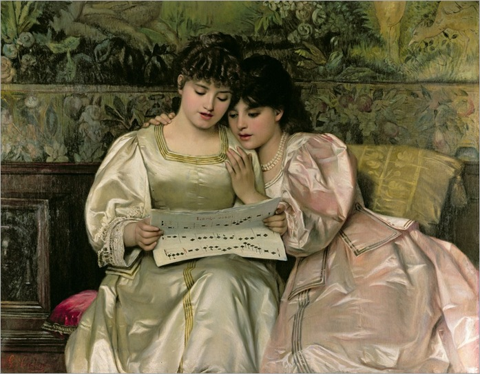Giovanni Battista Costa, Two Girls Singing