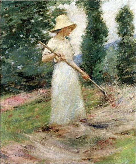 Girl Raking Hay, Theodore Robinson