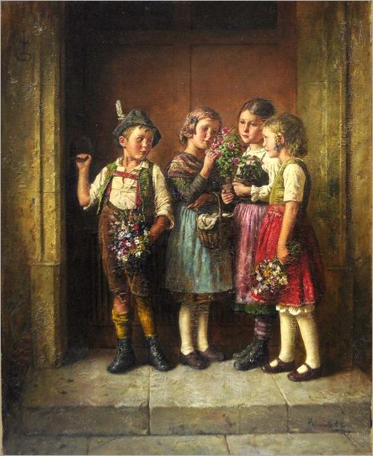 grandmothers-birthday - Edmund Adler (1876 – 1965, Austrian)