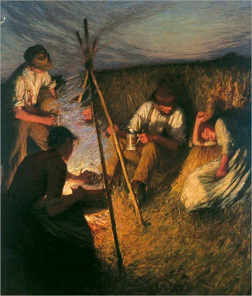 Henry Herbert La Thangue - The Harvesters' Supper