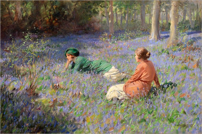 In the Bluebell Wood - Rowland Wheelwright