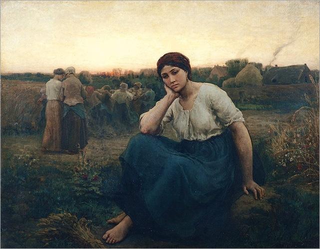 Jules Breton (french, 1827-1906)- evening