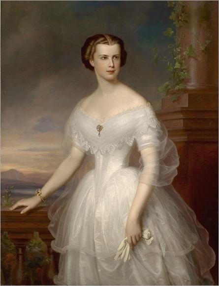 Kaiserin Elisabeth von Österreich ,by Franz Schrotzberg