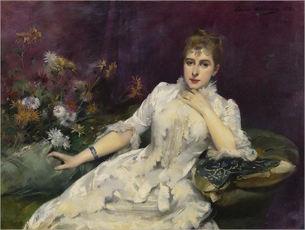 La Dame Avec Les Fleurs_Louise Abbema-1883