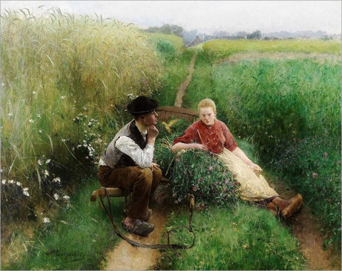 Love Is in the Air -1900- Evariste Carpentier (belgian painter)