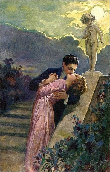 Lovers -1910- Unknown artist -illustration