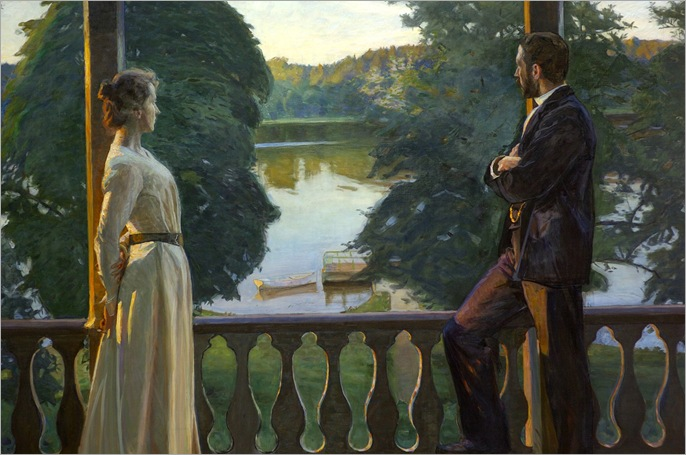 Nordic Summer Evening - Richard Bergh-1899-1900