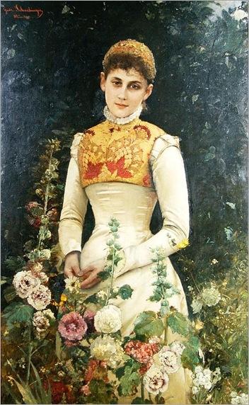 Portrait of a woman - Gabriel Schachinger