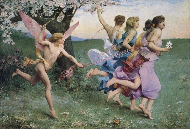 Quadrige de l'Amour - 1880 - Jacques Clement Wagrez (french painter)