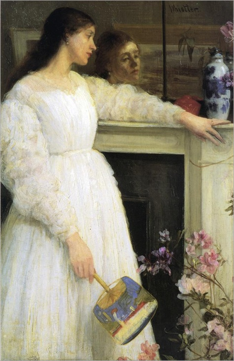Symphony in White No. 2 - The Little White Girl (1864) by James Abbott McNeill Whistler (american, 1834-1903)