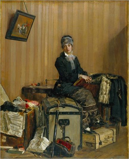 the customs by Antonio Mancini - 1877