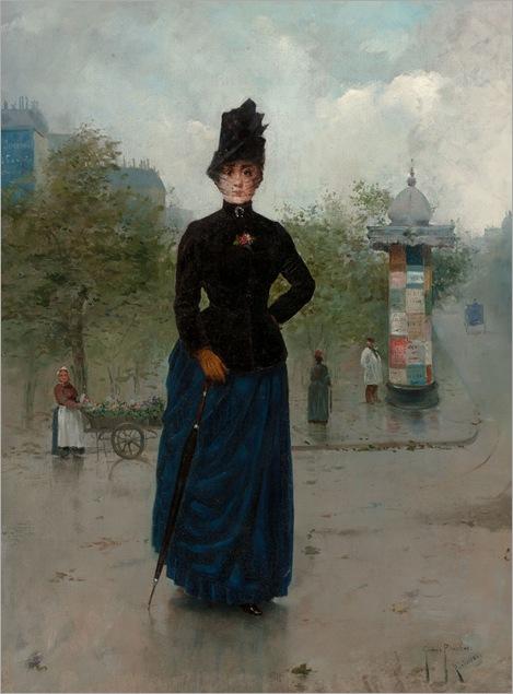 VICENTE_GOMEZ_Y_PLASENT_Spanish_19th_Century-Le parisienne, 1886