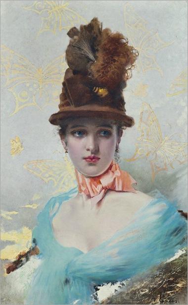 Vittorio Matteo Corcos (1859 - 1933) - Une Élegante