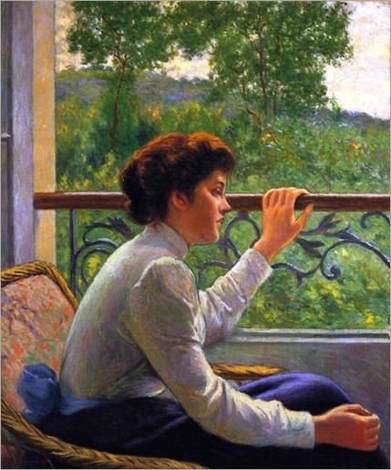 Waiting (also known as Girl by the Window)-Federico-Zandomeneghi