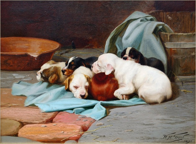 William Henry Hamilton Trood - Pups' Slumber 1890