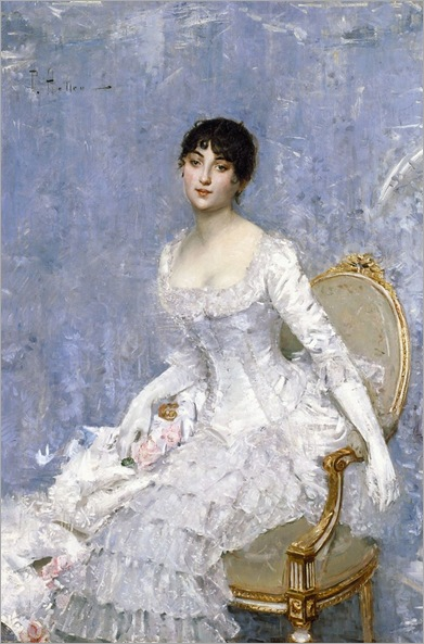 Young Lady in White -1887- Paul Helleu (french painter)