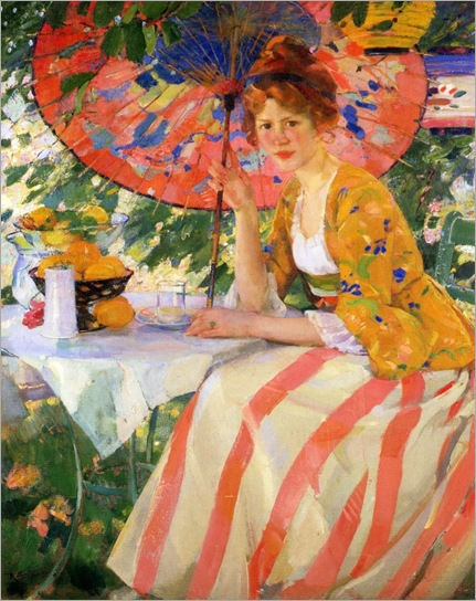 Young Lady with Parasol - 1910 - Karl Albert Buehr (german painter)