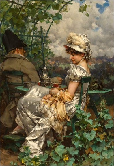 afternoon-tea-in-the-garden-Frederik Kendrik Kaemmerer