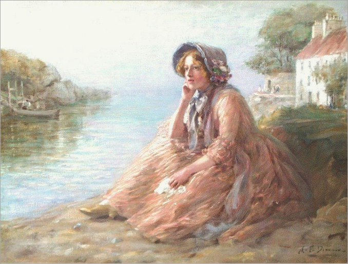 Alfred P Dixon - Young Woman in Contemplation