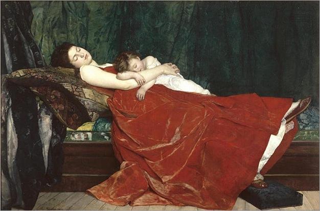 Alphonse Eugene Felix Lecadre, 1842-1875 - Le-Sommeil