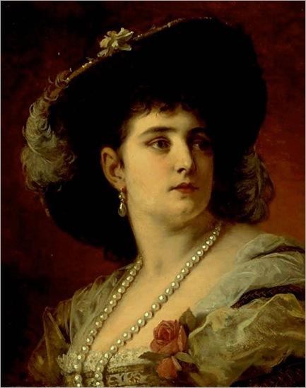 AN ELEGANT LADY -Anton Ebert
