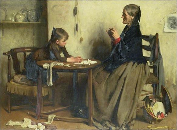 Arthur Hacker (english, 1858-1919)- A Difficulty 1888