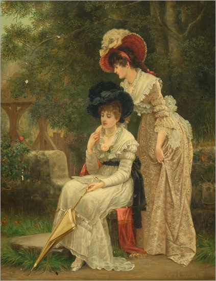 Arthur Longley Vernon (active 1871 - 1922) - The Love Letter, 1883