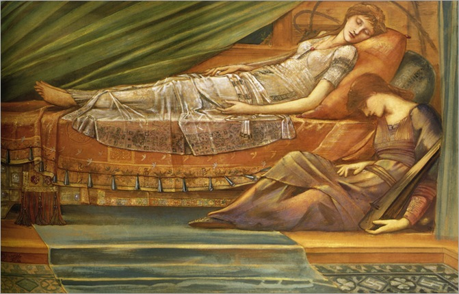 Burne_Jones_The_Sleeping_princess