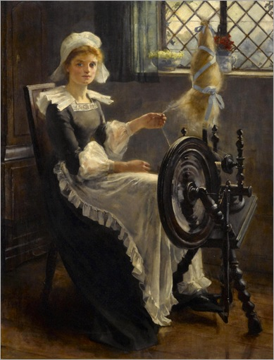 Cornelis Kuppenol (1865-1946) - At the spinning wheel