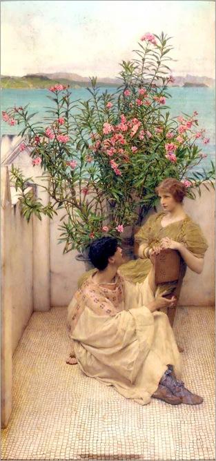 Courtship-Sir Lawrence Alma Tadema (dutch-british, 1836-1912)