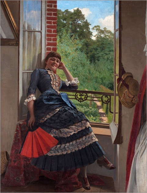 Edvard_Rosenberg_1858_1934_Young_woman_in_window
