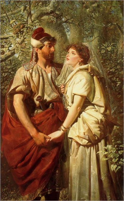 Edward Henry Corbould (english, 1815–1905) - Troilus and Cressida in the Garden of Pandarus 1873