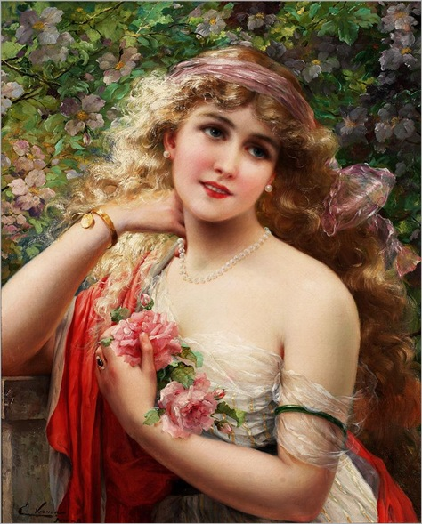 EVernon-young lady with roses