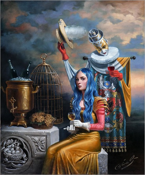 Fleeting Echo of the Golden Age - Michael Cheval