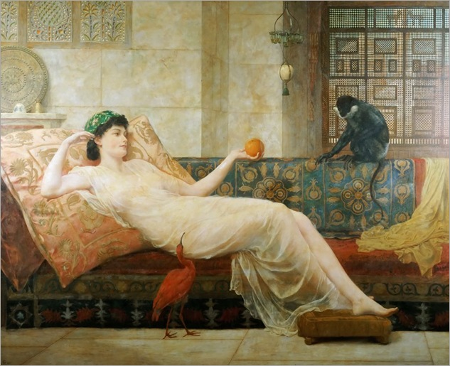 Frederick Goodall (english, 1822-1904)- A Dream of Paradise