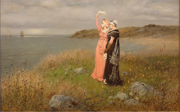 George Henry Boughton (1833 – 1905) - The Two Farewells, 1873
