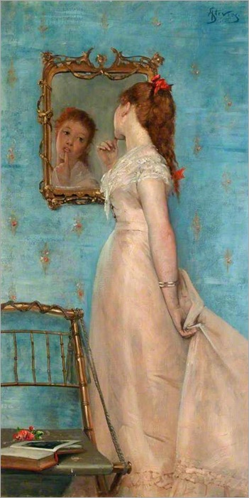 Girl Looking in the Mirror - Alfred Stevens