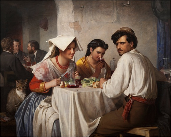 In A Roman Osteria 1866 Carl Bloch