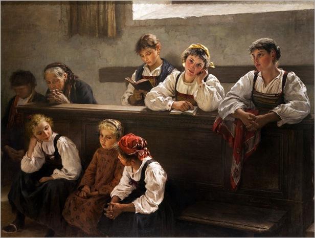 in chiesa-Enrico Crespi