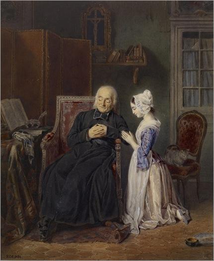 Jean Alphonse Roehn (Paris, 1799 - Paris, 1864) - interior scene