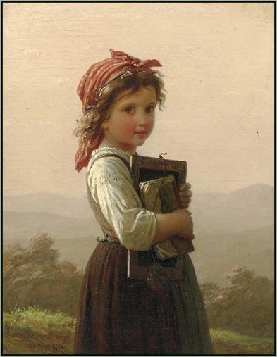 Johann Georg Meyer Von Bremen -The Little Schoolgirl